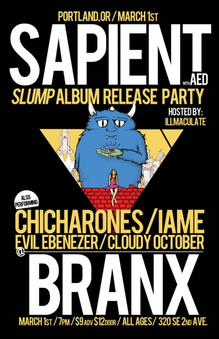 Release Party – Sapient at Branx March 1st in Portland
