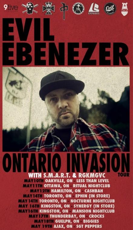 Ontario Invasion Tour w/ Evil
