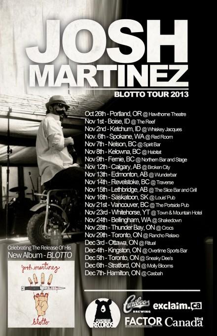 "Josh Martinez Announces ""Blotto"" Release Tour"
