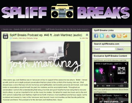 Josh Martinez extended interview on Spliff Breaks Podcast