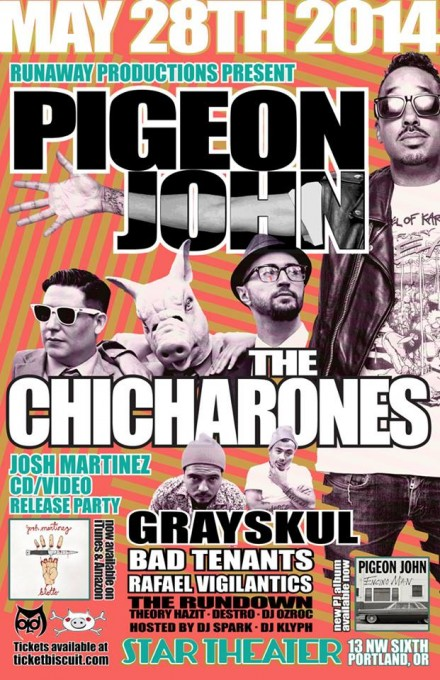 Pigeon John, The Chicharones and Grayskul in PDX